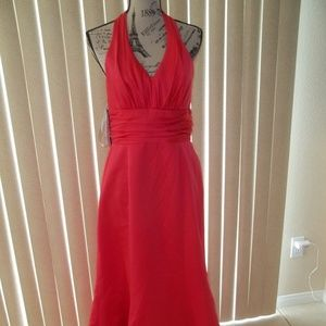ALFRED ANGELO POMEGRANATE BRIDESMAID GOWN SIZE 12